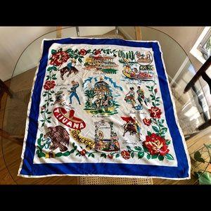 🇲🇽 Vintage Tijuana, Mexico Silk Scarf🇲🇽
